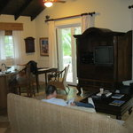 Upper Cottage Suite Living Room.  Kitchen is to the left.