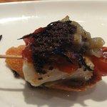 Montadito de camarão