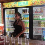 Our hostess who told us all about the drinks before we tried them