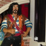 Pirate in the Hotel Restaurant.  Food there was good, served us