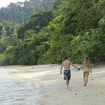 A run on the secluded beach