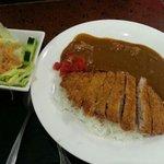 Curry pork chop on rice