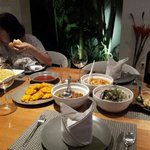 sumptuous meal home cooked by villa cooks