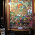 Tibetan art fills the interior