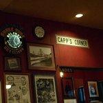 Memorabilia adorn the walls