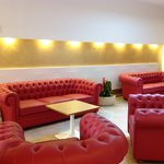 Relax in red sofa
