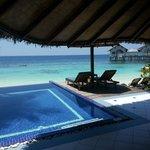 beach villa with pool