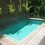 private pool in shupa villa