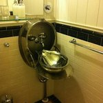 Novel sink from railway carriage