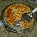 Torta servida no café da manhã