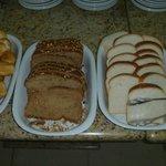 variedade do café da manhã