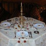 table dressée par Milouda... un bon souvenir!