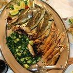 Grigliata mista del ristorante interno Vala, ottimo pesce ed economico