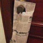 Eco! Newspaper delivered in newspaper!