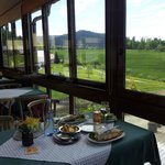 Panoramablick vom Waldcafe Schaible ins obere Gaistal
