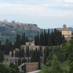 View of Orvieto on the short drive to La Torretta