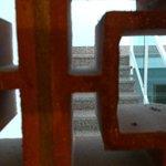 Room window / delightful view of reception stairway