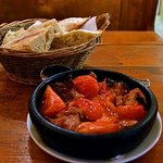 Veal with Tomatoes in a Clay Dish