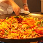 The end result - Paella!