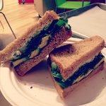 Goat cheese sandwich.