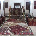 Alcuni tappeti esposti