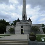 Thye monument is grand and can be seen from quite a distance