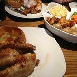 Half Roast Chicken Sunday Dinner