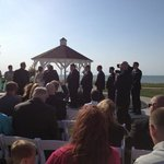 wedding ceremony at gazebo