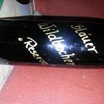 Weinflasche Vorderseite
