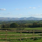 View of the Brecon Beacons from the farm