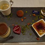 wonderful coffees and desserts tray ~