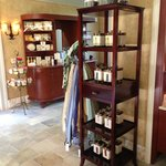 Great selection of beauty products, candles and clothing at the Trellis Spa