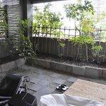dormitorio, terraza junto al baño
