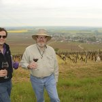 Overlooking the vineyards of Burgundy