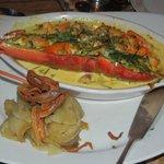 Half a lobster - yum!