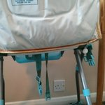 Highchair provided for my child - and this is after we attacked it with many antibacterial wipes