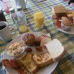 Petit-déjeuner copieux et varié