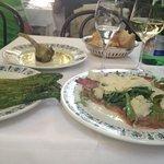 artichoke, asparagus and carpaccio