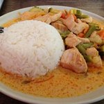 Red curry dish