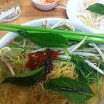 Pork wanton noodle soup