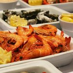 Fresh Prawns, Oysters, Crabs, and Mussels every night on our Seafood Buffet