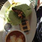 Chicken Wrap on spinach tortilla
