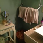 Bath with organic amenities!