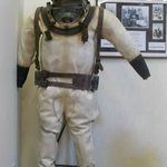 heavy...1944 ruberized canvas diving suit