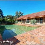 Langbrook Cottage and pool surrounds