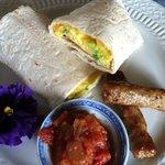 breakfast wrap- so good!