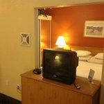 Large room. Little TV.