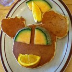 Kids pancake breakfast at the Alpengruss cafe