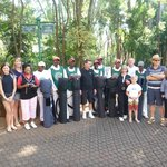 Our group with caddies