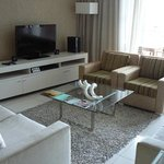 Flat screen TV with satellite reception